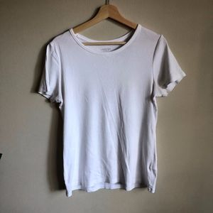 Lands End Shaped Fit Tee, Size S